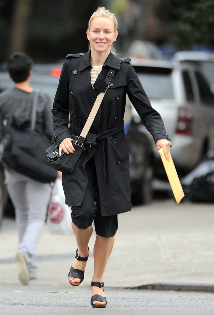 Naomi Watts carried a big envelope on her birthday.