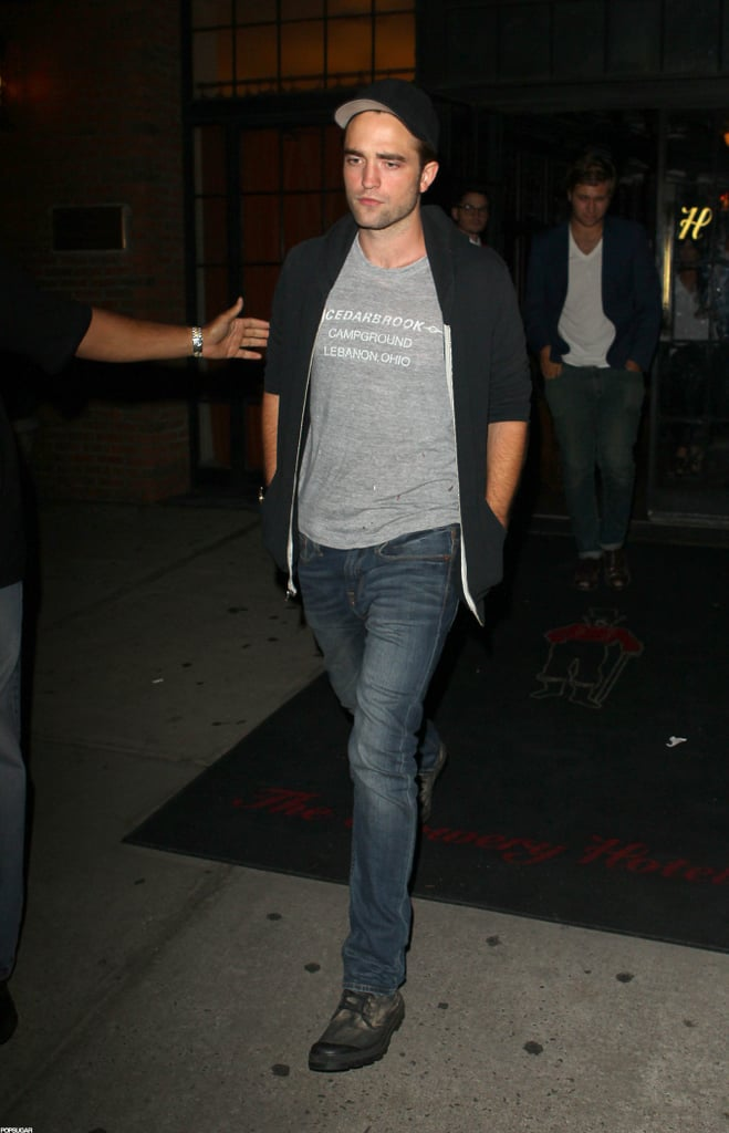 Robert Pattinson had a night out on the town in NYC.