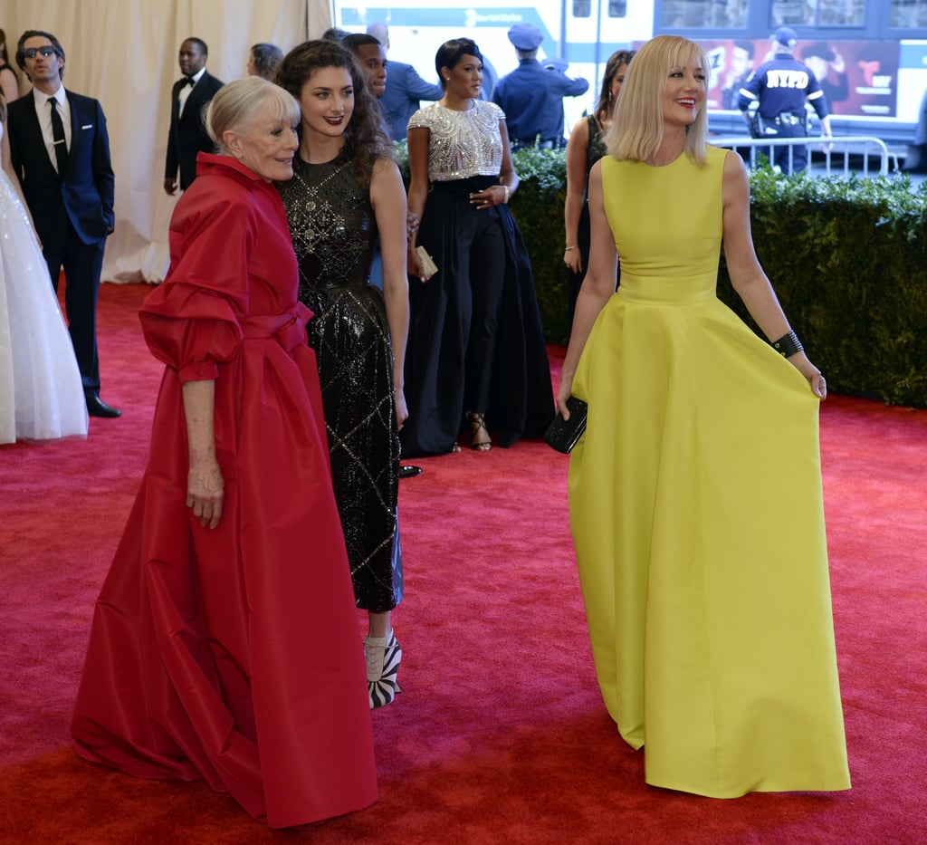 Vanessa Redgrave, Daisy Bevan, and Joely Richardson at Met Gala 2013.