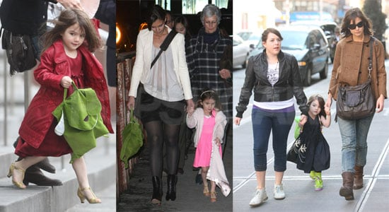 Photos of Tom Cruise And Cameron Diaz Filming Knight And Day in Austria; Katie Holmes And Suri Cruise in NYC