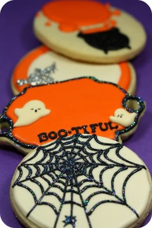 Glitter and Glam Halloween Cookies
