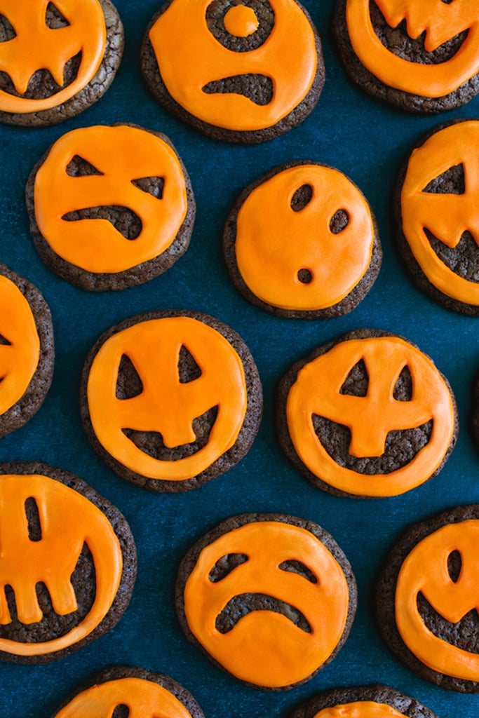 Jack-o'-Lantern Chocolate Cookies