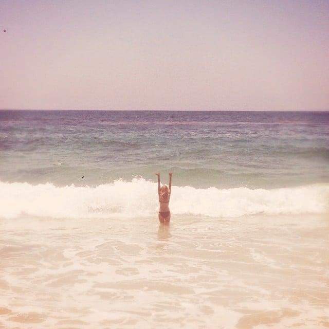 Lauren Conrad hit the beach.  Source: Instagram user laurenconrad