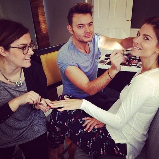 Sometimes getting ready involves an entire team for multitasking. Source: Instagram user butterlondon