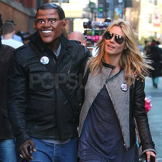 Heidi Klum and Seal Stroll in NYC
