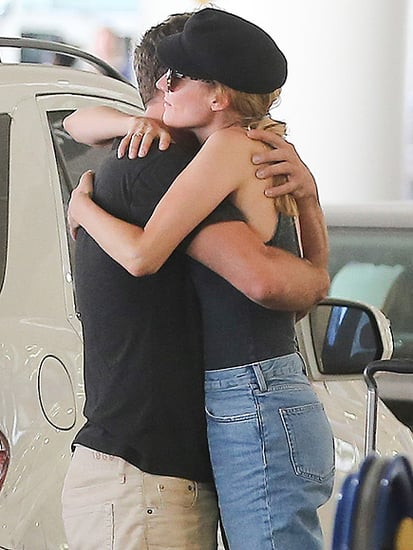 Diane Kruger and Joshua Jackson Hug at L.A. Airport a Month After Splitting Up