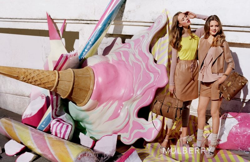 We love everything about this Mulberry dessert-inspired campaign. Source: Fashion Gone Rogue