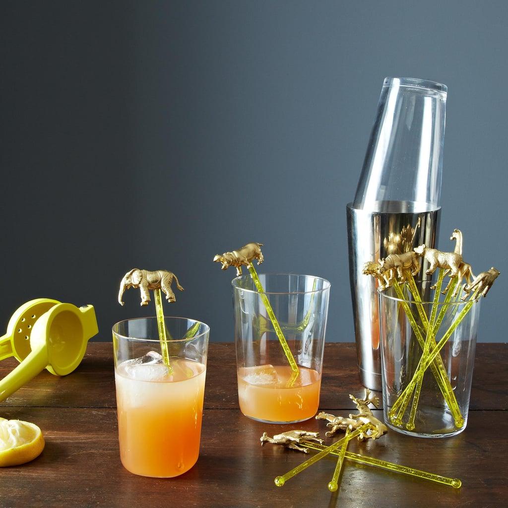 Animal Cocktail Stirrers