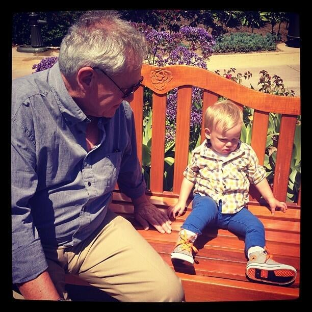 Luca Comrie and his grandfather spent some time discussing life together. Source: Twitter user HilaryDuff