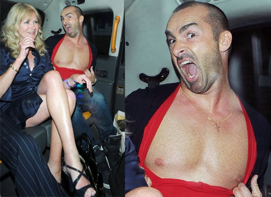 Photos of Pineapple Dance Studios Star Louie Spence and Debbie Moore Leaving The Ivy