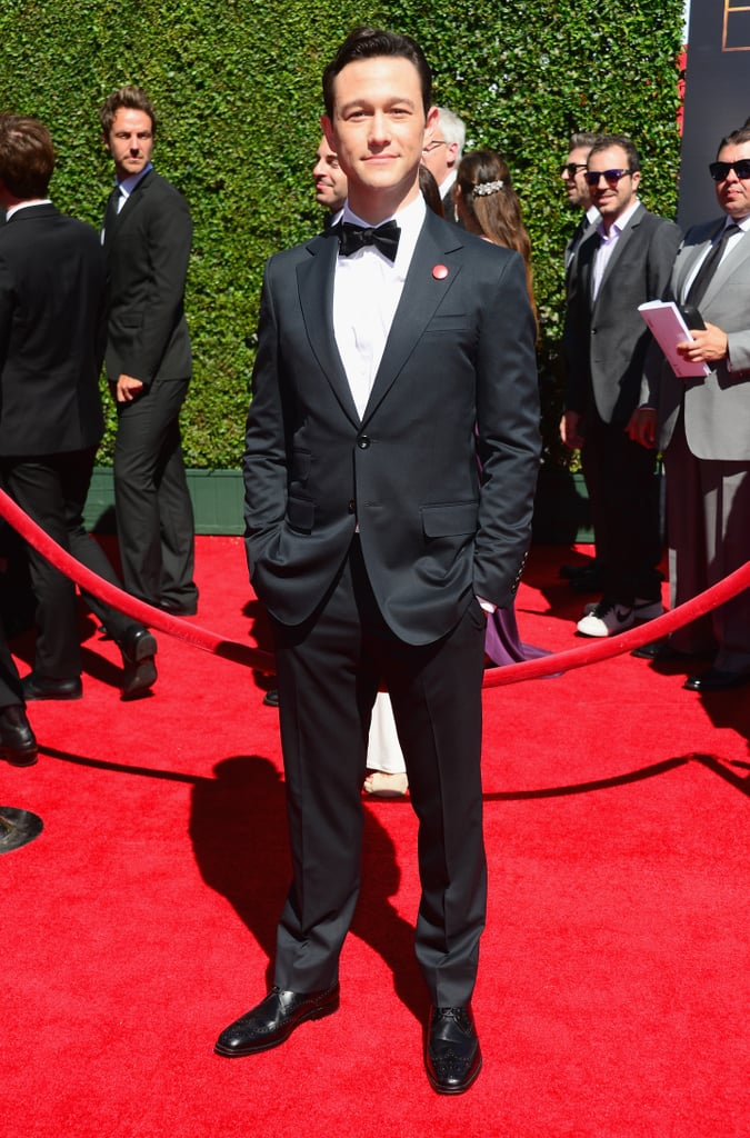 Joseph Gordon-Levitt looked handsome in a slim suit complete with a bow tie.