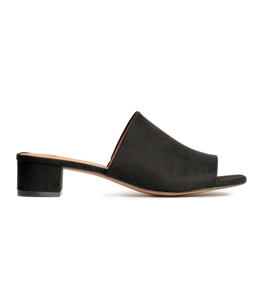H&M Mules With Block Heel ($30)