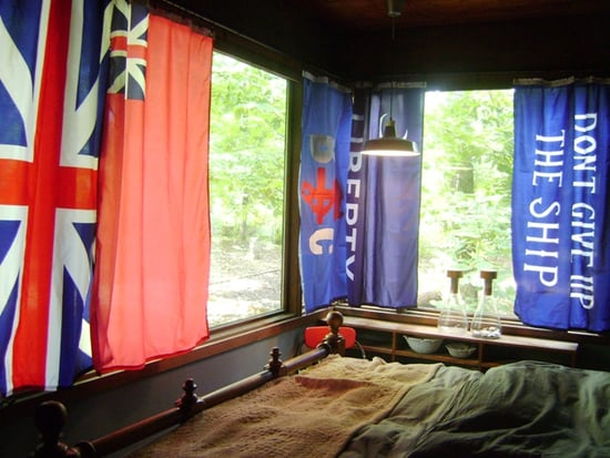 Cool Idea: Using Flags as Drapes