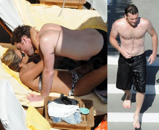 Pictures of Shirtless Sam Worthington and Girlfriend Natalie Mark in a Bikini Enjoying A PDA In Italy
