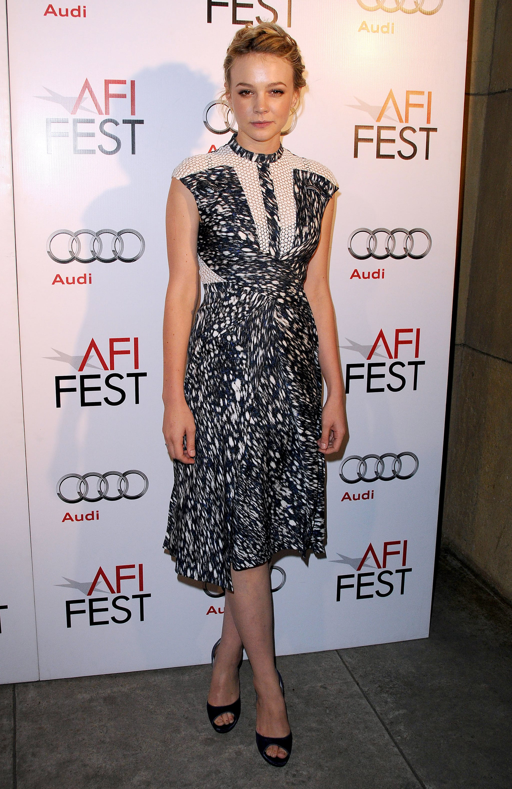 Carey Mulligan in Peter Pilotto at the 2010 AFI Fest