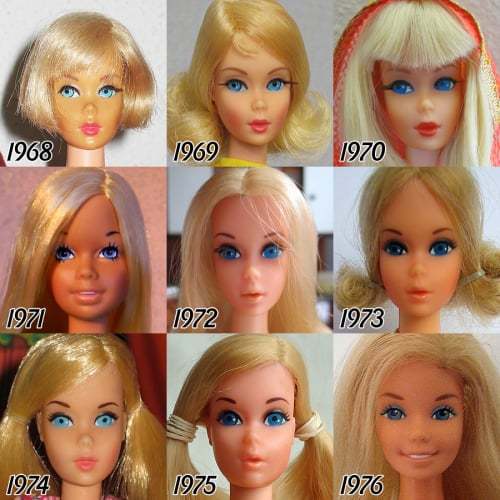 Barbie's Beauty Evolution