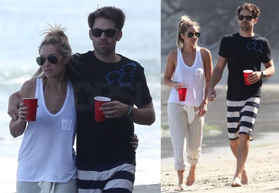 Pictures of Lauren Conrad and Kyle Howard Walking on the Beach