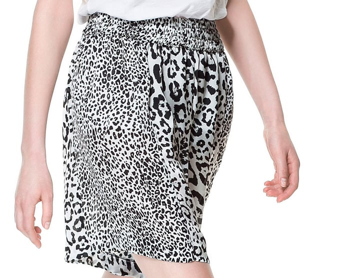 Zara's animal-print shorts ($50) are relaxed in cut but totally wild in print — great combo.