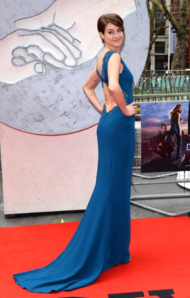 Shailene Woodley in Stella McCartney at the 2014 Divergent European Premiere