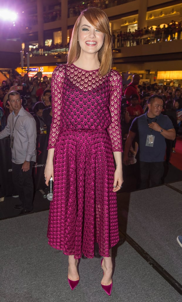 Emma Stone at a Singapore Fan Event For The Amazing Spider-Man 2
