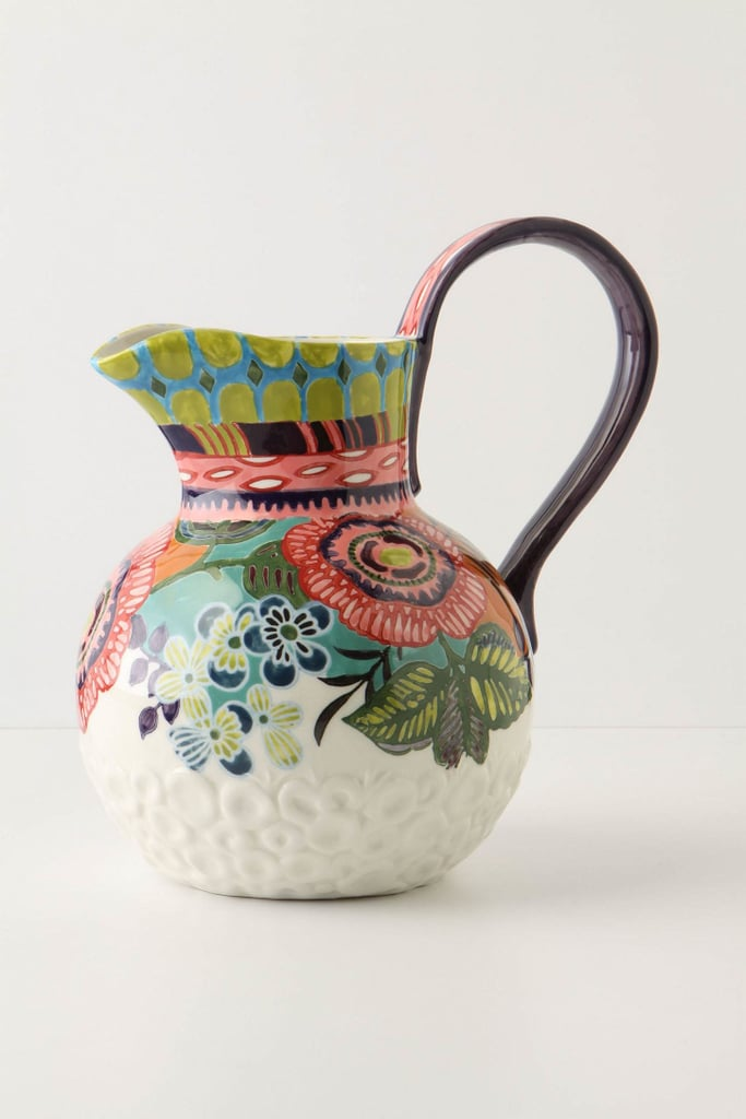 With a gorgeous floral design in a rich color palette, the Amazon Dreams Pitcher ($58) makes a major Spring statement.