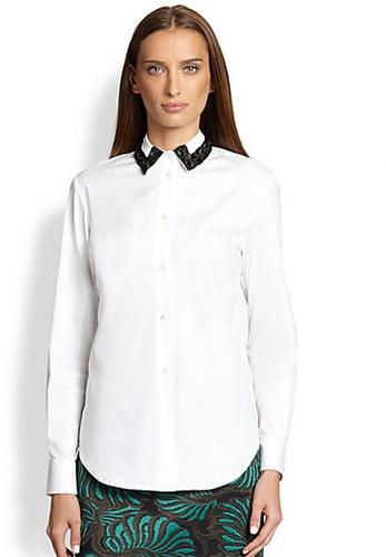 Piazza Sempione Embroidered Poplin Shirt