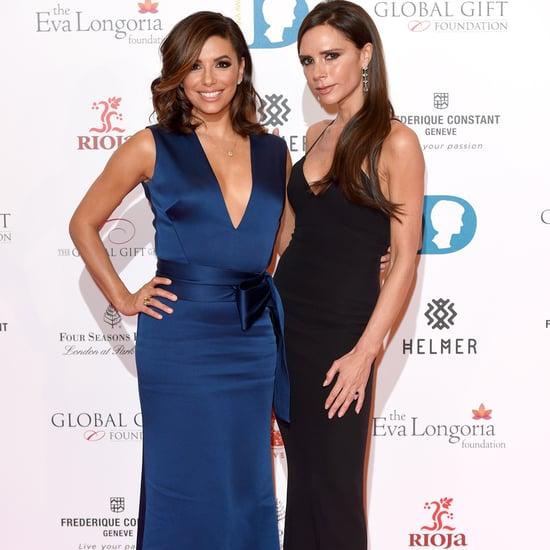 Eva Longoria and Victoria Beckham Get Ready For a Night Out