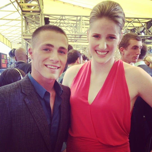 Colton Haynes shared a photo with Olympic gold medalist Missy Franklin. Source: Instagram user coltonlhaynes