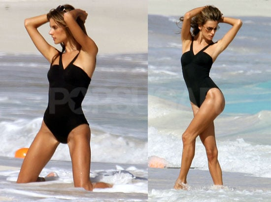 Photos of Alessandra Ambrosio at a Victoria's Secret Bikini Photo Shoot