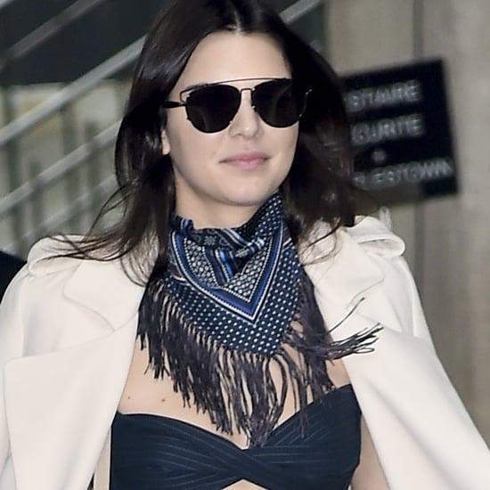 Kendall Jenner's Striped Jumpsuit at Paris Fashion Week