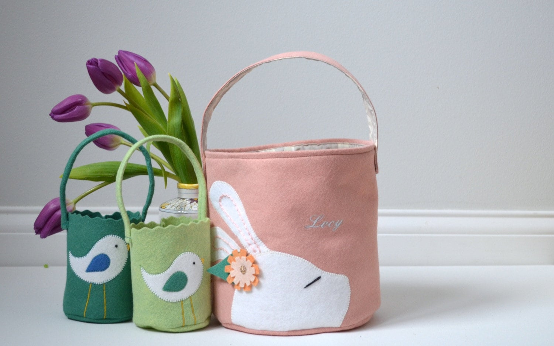 Custom Wool Felt Easter Basket
