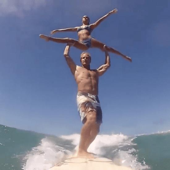 Couple Surfing Acrobatics | Video