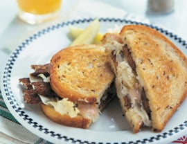 Fast & Easy Dinner: Tempeh Reubens With Caramelized Onions