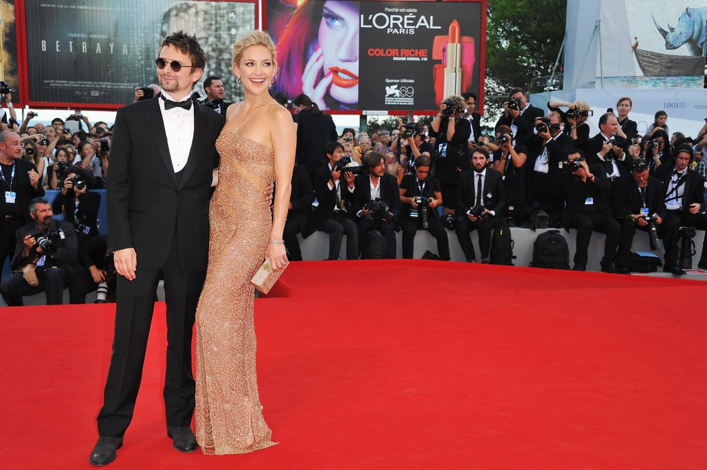 I love that Kate Hudson's bubbly personality really shined through when she hit the Venice Film Festival red carpet with Matthew Bellamy in August — and it didn't hurt that her body looked insane in that nude-colored Atelier Versace gown.  — Lauren Turner, associate editor
