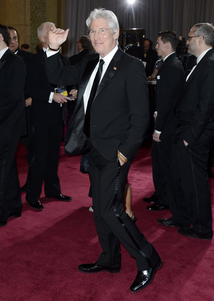 Richard Gere gave a wave at the Oscars.