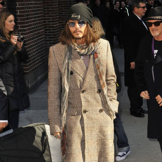 Johnny Depp at Late Show With David Letterman in NYC Photos