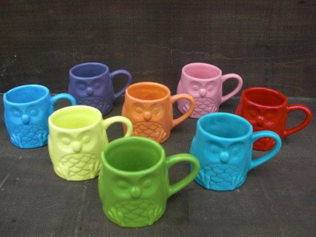 In a Glaze Ceramic Owl Mug ($14)