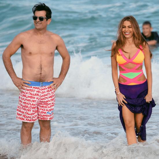 Sofia Vergara in a Swimsuit Filming Modern Family in Sydney
