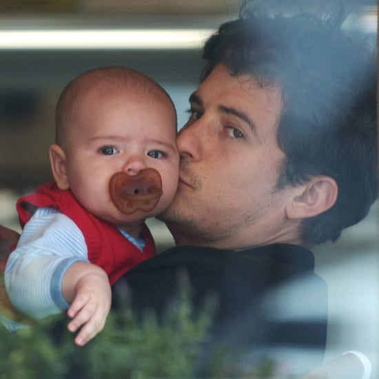 Pictures of Orlando Bloom Kissing Baby Flynn Bloom in LA