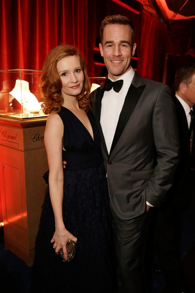 James and Kimberly Van Der Beek looked gorgeous together at the Weinstein get together.