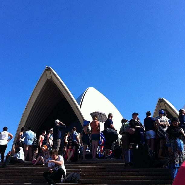 The Sydney Opera House was the perfect backdrop for Aussie fans of The Ellen Show, who turned up in the hope of winning tickets to the show in the US.