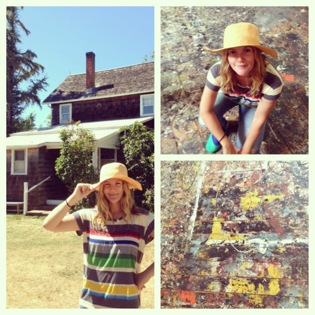 Drew Barrymore made a visit to Jackson Pollack's former home. Source: Instagram user drewbarrymore