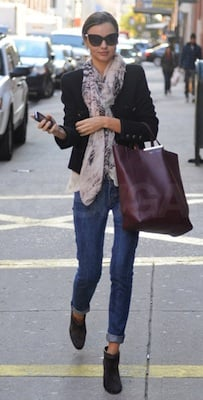Miranda Kerr in Dior Sunglasses and Toting a Celine Bag