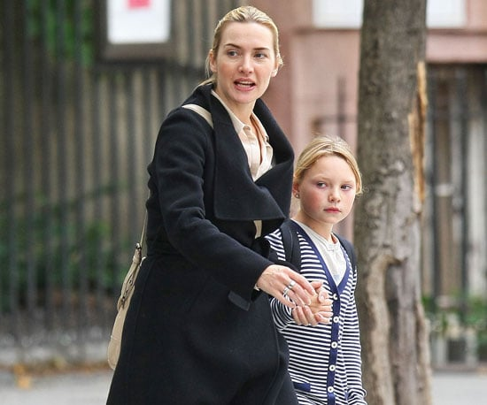Slide Picture of Kate Winslet Picking Up Daughter Mia From School