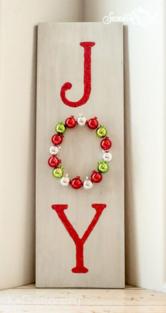 DIY Wooden Joy Sign