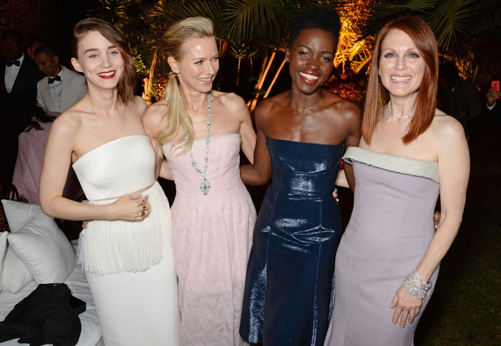 Rooney Mara, Naomi Watts, Lupita Nyong'o, and Julianne Moore were all smiles at a 2014 Calvin Klein bash.