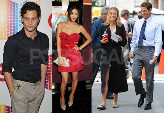 Pictures of Sam Page, Blake Lively, Penn Badgley, and Jessica Szohr of Gossip Girl