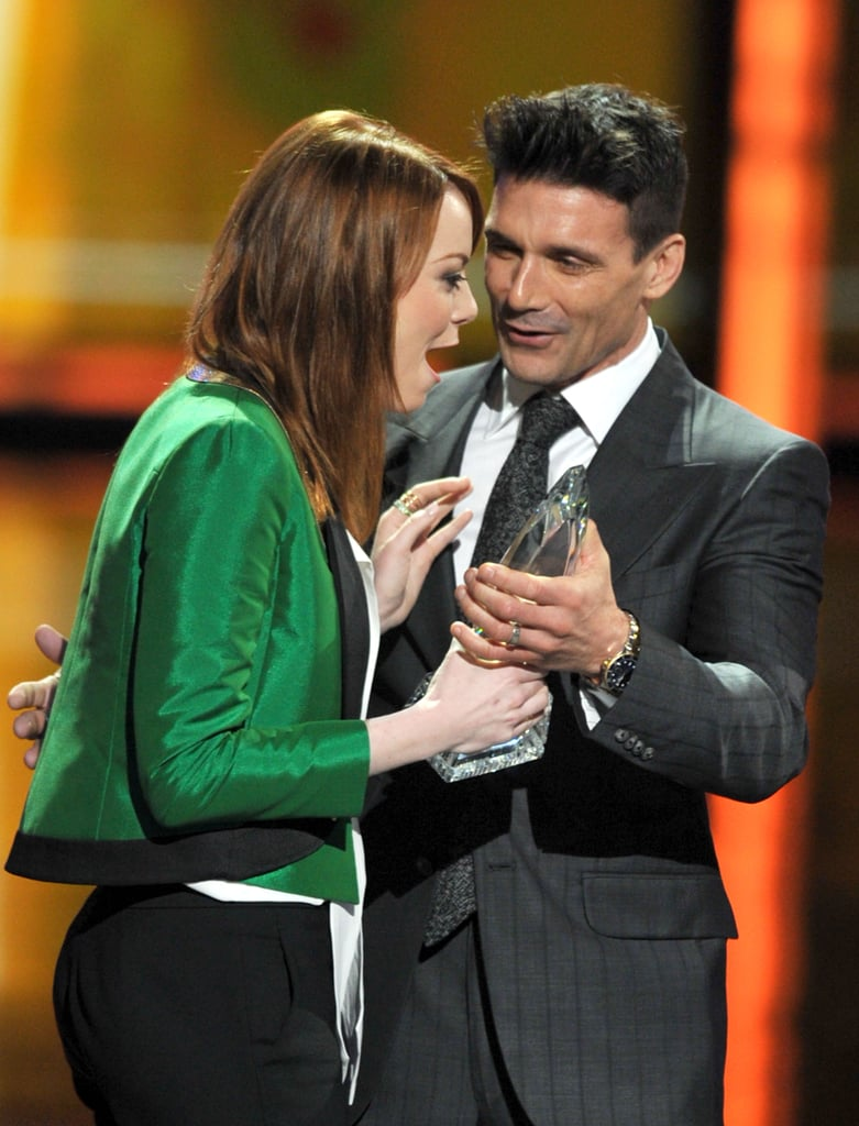 Emma Stone was in shock when she won the award for favourite movie actress at the People's Choice Awards in January 2012.