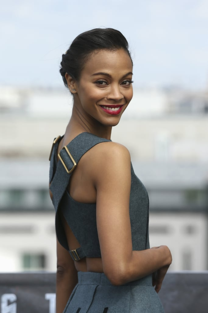 Zoe Saldana is Gorgeous in Grey: See it from All Angles!