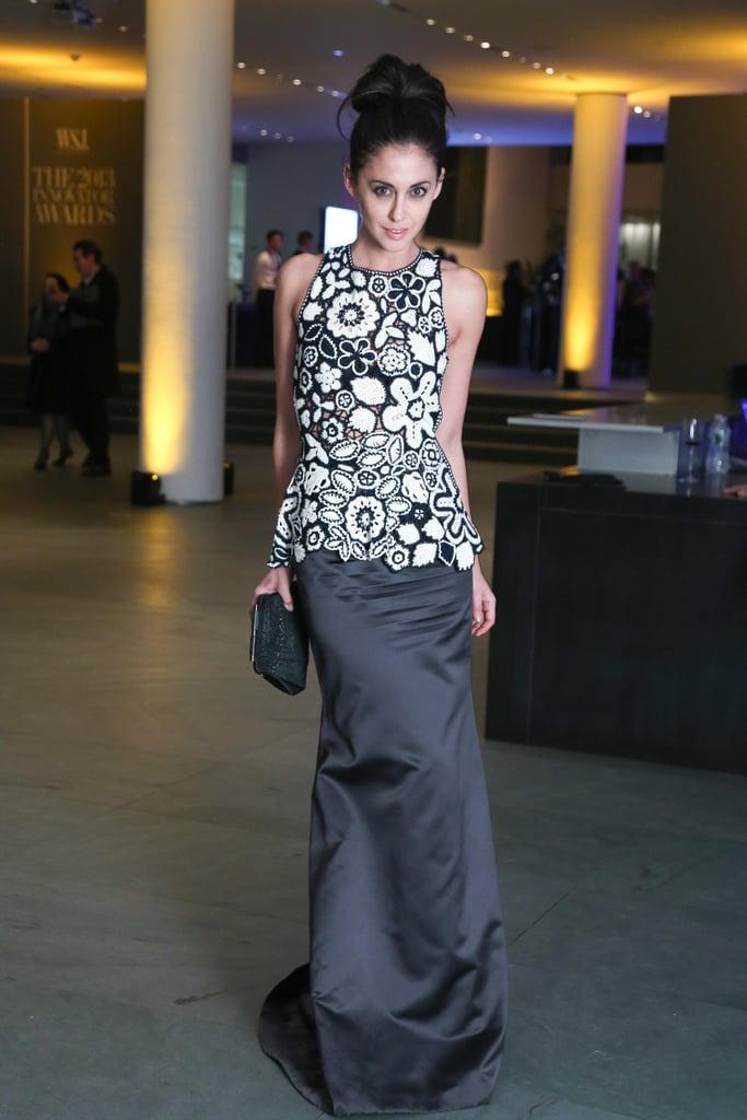 Erika Bearman got glamorous in her floral motif at the Innovator Awards.